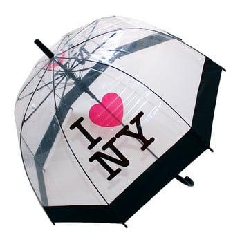Umbrelă anti-vânt Ambiance Birdcage I Love NY, ⌀ 79 cm de la Ambiance
