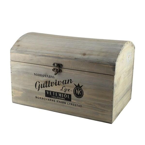 Sada 3 ks dřevěných boxů Gullvivan
