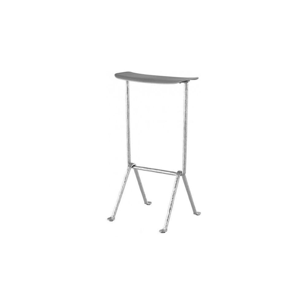Šedá barová židle Magis Officina, výška 75 cm