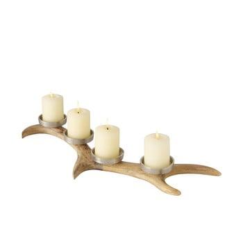 Suport lumânări pentru Crăciun din lemn de mango Boltze Roemje