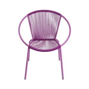 Křeslo Leon Purple, 64x70x50 cm