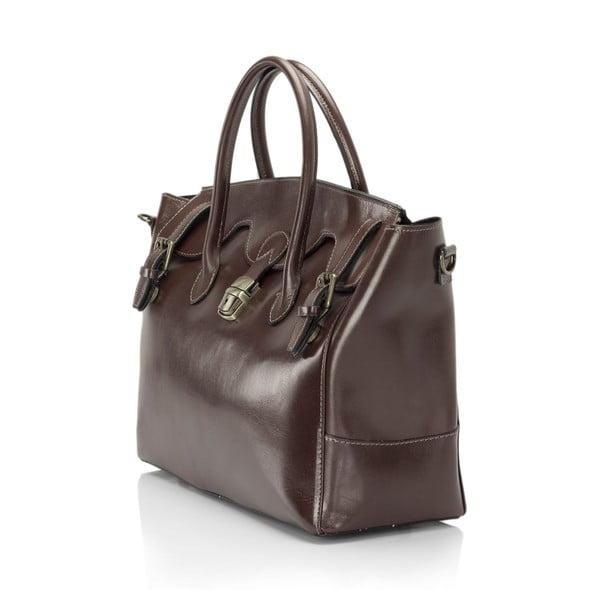 Hnědá kožená kabelka Lisa Minardi Pomona