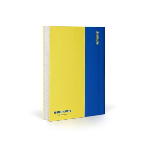 Zápisník FANTASTICPAPER A6 Lemon/Blue, čtverečkový