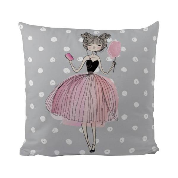 Polštář Mr. Little Fox Pink Girl, 50x50cm