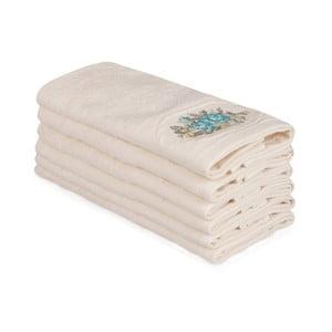 Sada 6 béžových bavlněných ručníků Nakis Luco, 30 x 50 cm