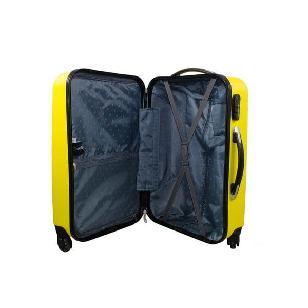 Sada 3 kufrů Roues Cadenas Neon Yellow, 105 l/72 l/40 l