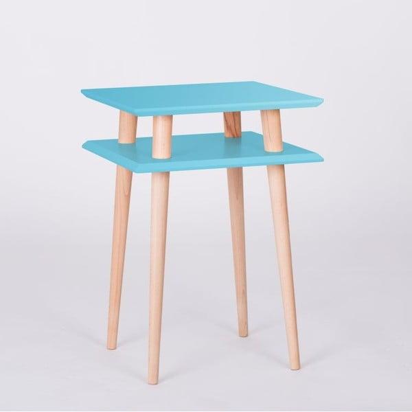 Konferenční stolek UFO Square Dark Turquoise, 43 cm (šířka) a 61 cm (výška)