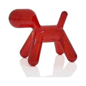 Stolička Puppy transparentní červená, 56 cm