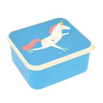 Cutie pentru prânz cu motiv inorog Rex London Magical Unicorn, albastru imagine