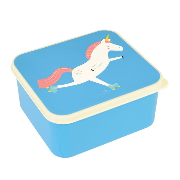 Modrý svačinový box s jednorožcem Rex London Magical Unicorn