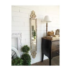 Zrcadlo z jedlového dřeva Orchidea Milano Antique, 22x153cm