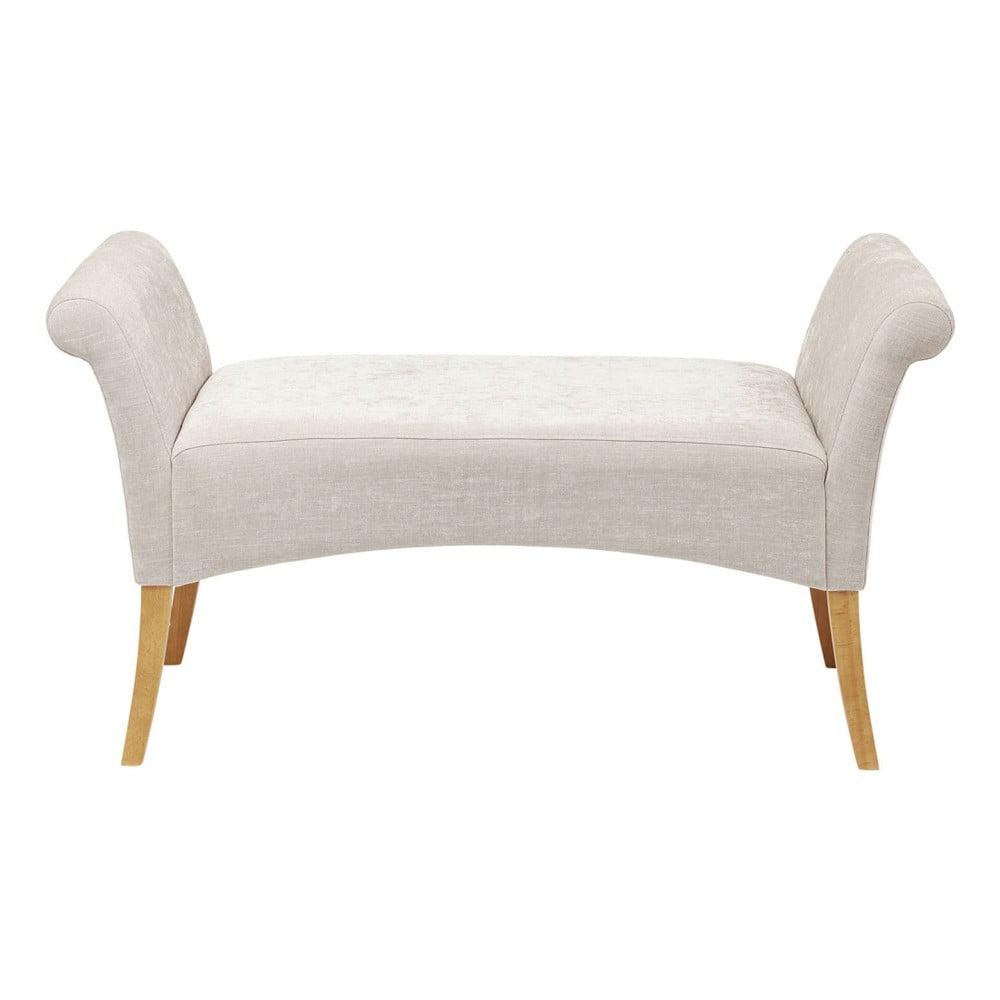 Bílá polstrovaná lavice Kare Design Motley