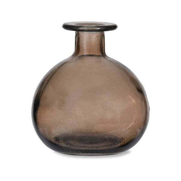 Šedá kulatá váza z recyklovaného skla Garden Trading Grey, ø 11 cm