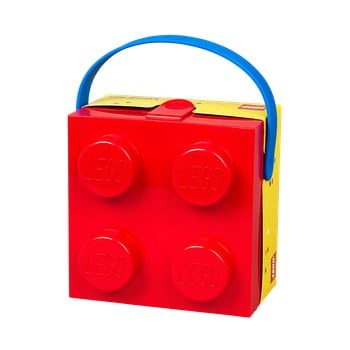 Cutie depozitare LEGO® cu mâner, roșu imagine