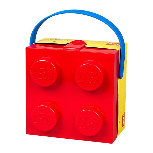 Cutie depozitare LEGO® cu mâner, roșu