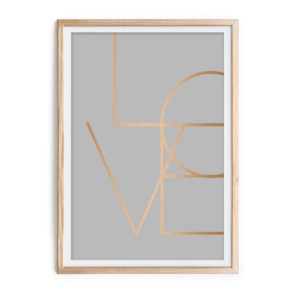 Obraz v rámu Velvet Atelier Love, 60 x 40 cm