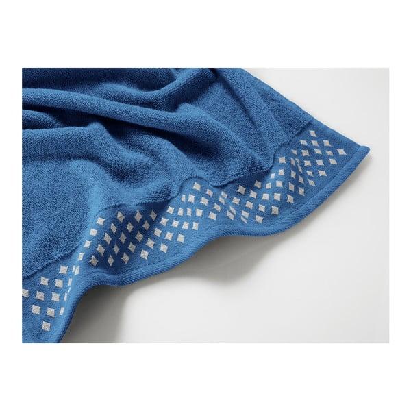 Modrý bavlněný ručník Maison Carezza Lazio, 50 x 90 cm