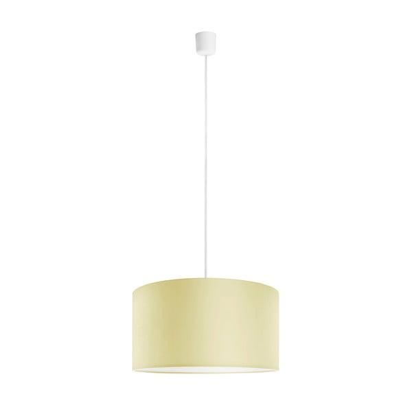 Stropní lampa Tres, écru/bílá, průměr 40 cm