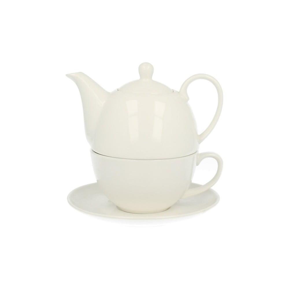 Porcelánová konvička se šálkem Duo Gift, 350 ml