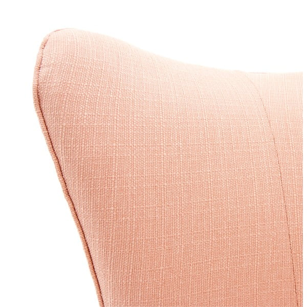 Růžové křeslo Vivonita Sandy, světlé nohy