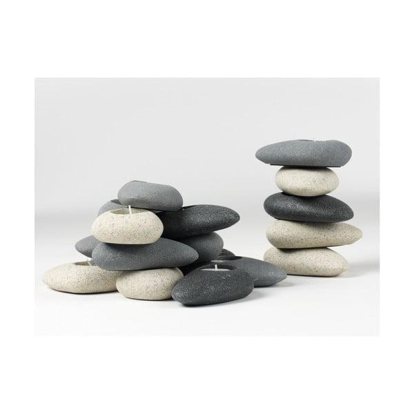 Kamenný svícen Grey Stone
