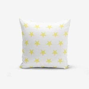 Povlak na polštář s příměsí bavlny Minimalist Cushion Covers Yellow Star, 45 x 45 cm