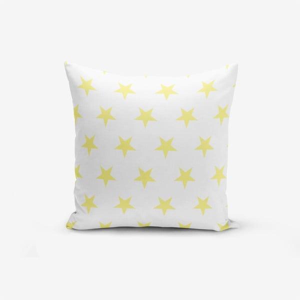 Față de pernă cu amestec din bumbac Minimalist Cushion Covers Yellow Star, 45 x 45 cm