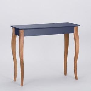 Grafitově šedý odkládací stolek Ragaba Console,délka85cm