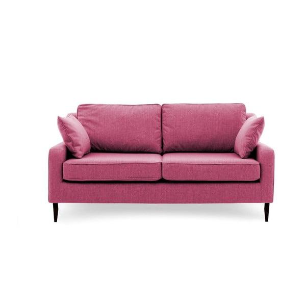 Růžová pohovka pro tři Vivonita Bond