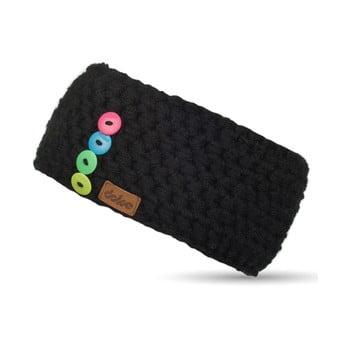 Bentiță tricotată manual DOKE Sirius, negru imagine