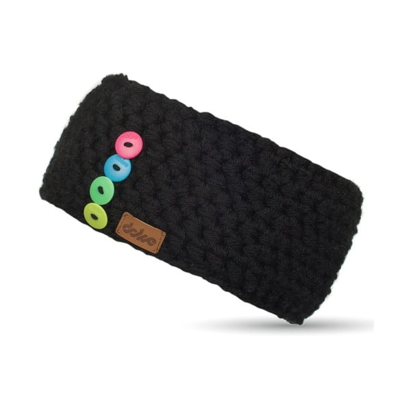 Bentiță tricotată manual DOKE Sirius, negru