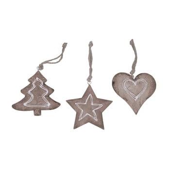 Set 3 decorațiuni suspendate Ego Dekor Christmas, înălțime 10 cm de la Ego Dekor
