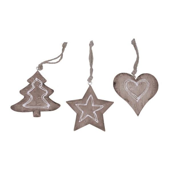 Set 3 decorațiuni suspendate Ego Dekor Christmas, înălțime 10 cm