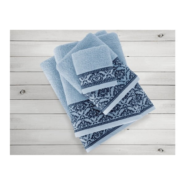 Modrý ručník Irya Home Felice, 50x90 cm
