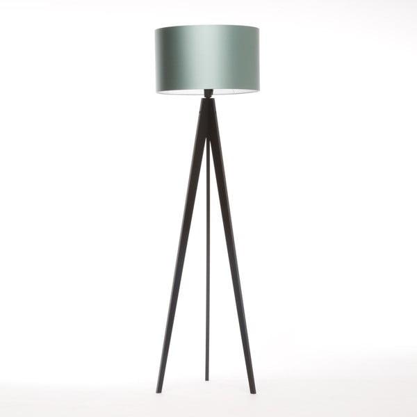 Stojací lampa Artista Black/Light Green, 125x42 cm