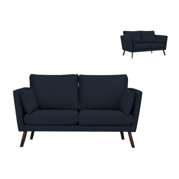 Tmavě modrá 2místná pohovka Mazzini Sofas Cotton