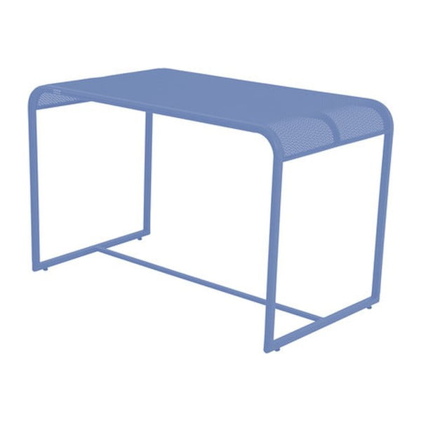 Modrý kovový balkónový stolek ADDU MWH, 63x110cm