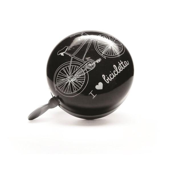 Zvonek na kolo I ♥ Bicicleta, černý