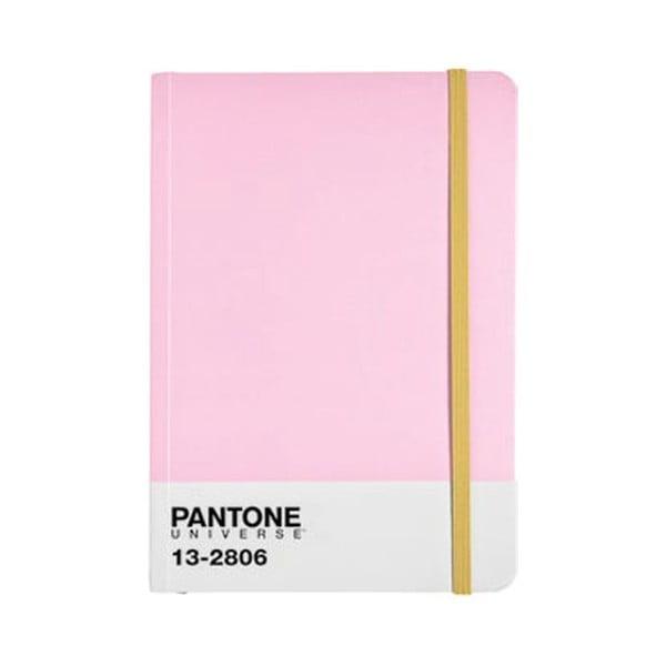 Zápisník s barevnou gumičkou Pink Lady/Aspen Gold 13-2806