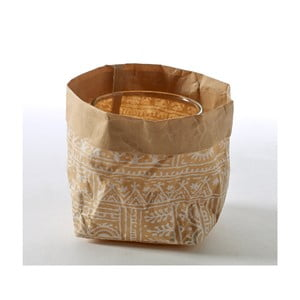Svícen/květináč Feeling Bag Print Wit, 10 cm