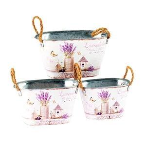 Sada 3 květináčů Lavender