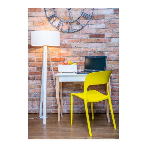 Grafitově šedý psací stůl Ragaba Lillo,délka65 cm