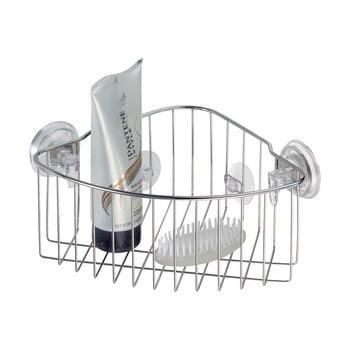Coșuleț metalic cu ventuză Corner Basket de la iDesign