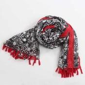 Šátek, černobílá s akcentem červené