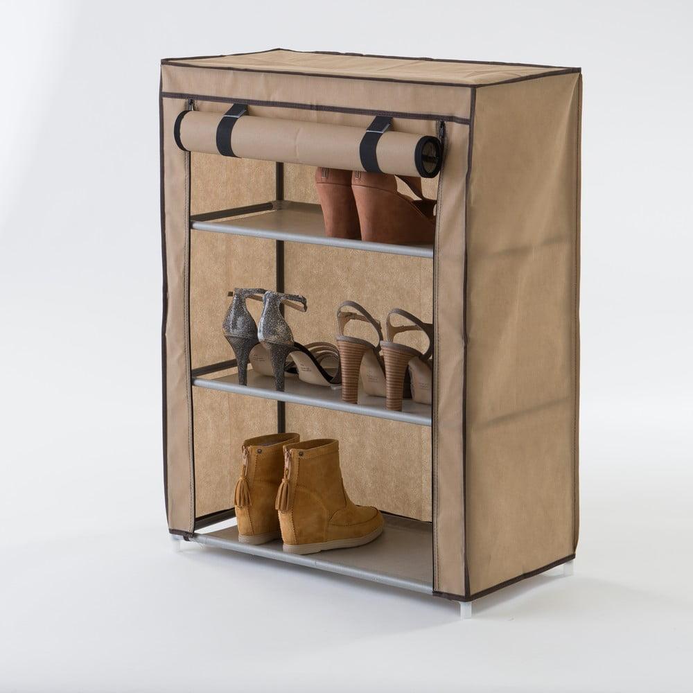 Béžový textilní třípatrový botník Compactor Shoes
