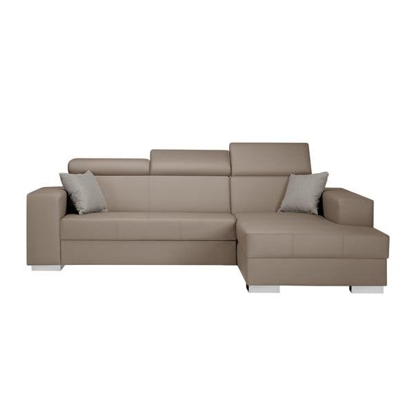 Canapea cu șezlong partea dreaptă Interieur De Famille Paris Tresor, caramel