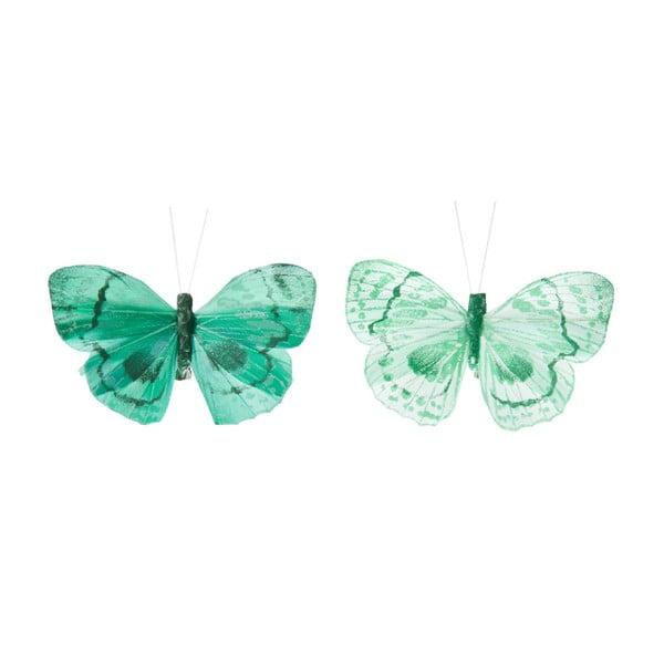 Sada dekorativních motýlů Blue Mix, 24 ks