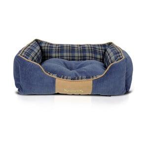 Psí pelíšek Highland Box Bed M 60x50 cm, modrý
