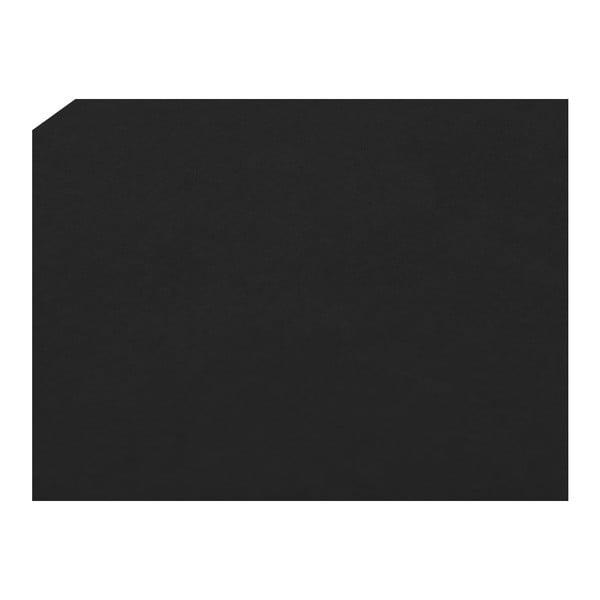 Černý otoman Mazzini Sofas Ancona, 180 x 47 cm