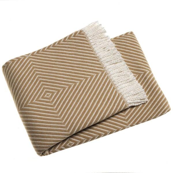 Hnedý pléd s podielom bavlny Euromant Tebas, 140×180 cm